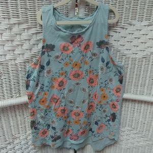 Lucky Brand blue and floral tank